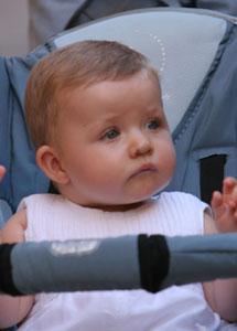 La infanta Leonor tuvo un hemangioma en su nariz.   El Mundo