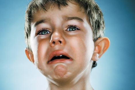 Niño llorando de la serie 'End Times'. | Jill Greenberg
