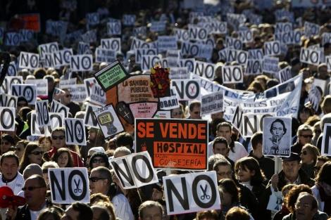 Manifestación en defensa de la sanidad pública.   Alberto di Lolli