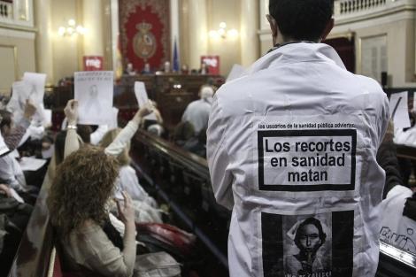 Movilización de médicos contra los recortes. | P. Campos