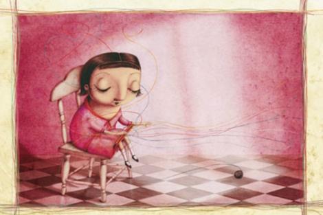 Ilustración de 'Hilos de colores' de Elena Ferrándiz