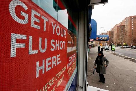 Centro de vacunción de la gripe en Nueva York.| Mario Tama | Afp