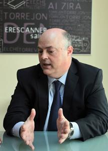 Alberto de Rosa, durante la entrevista.