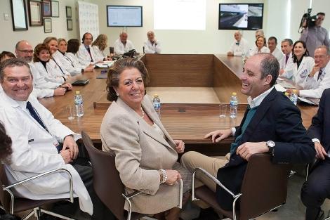 Rita Barberá y Francisco Camps, en la sesión inaugural del nuevo Hospital La Fe de Valencia