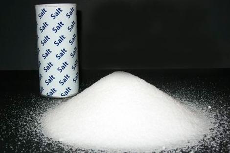 Un montón de sal de mesa