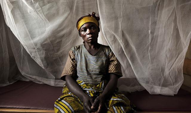 Mujer víctima de violencia sexual en la República Democrática del Congo
