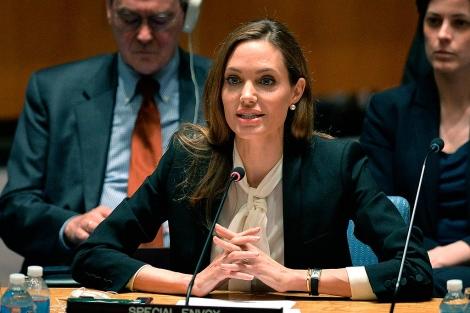 La actriz Angelina Jolie durante una intervención reciente en la ONU