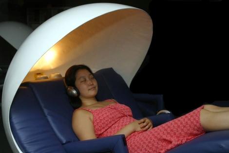Un lugar habilitado para la siesta en el Empire State (Nueva York). | Miguel Rajmil | EL MUNDO