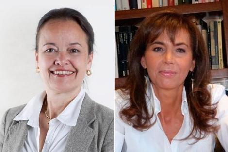 M. Piccart y P. Garrido, dos de las ponentes en el foro.| EM
