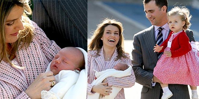 El Príncipe y la Reina Sofía visitan a la nueva Infanta