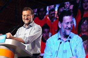 Mariano Rajoy, en Cáceres. (Foto: EFE)