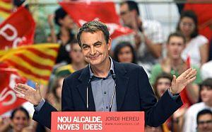 José Luis Rodríguez Zapatero, en Barcelona. (Foto: EFE)