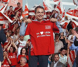 José Luis Rodríguez Zapatero, en León. (Foto: EFE)