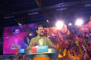 Mariano Rajoy, en Toledo. (Foto: EFE)