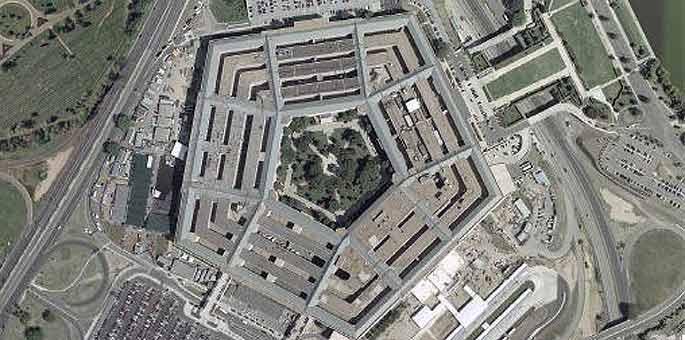 Vista aérea del Pentágono, en Washington DC.