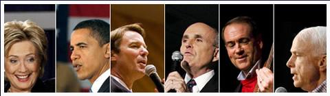 Imagen de los candidatos