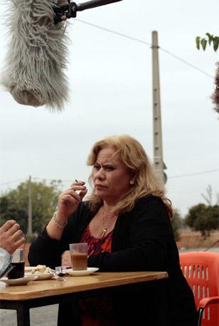 Carmina Barrios, durante el rodaje.