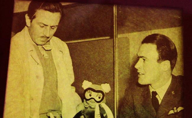 El escritor junto a Walt Disney