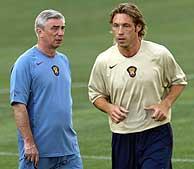 Yartsev y Mostovoi, en un entrenamiento./AP