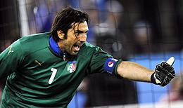 Buffon, ante Francia. (AFP)
