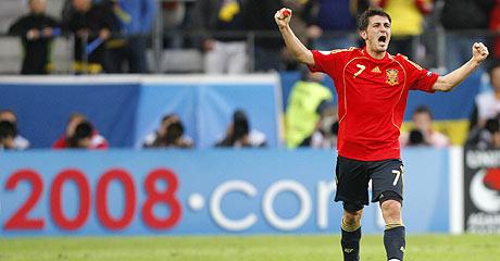 Villa, celebrando un gol. (Foto: AP)