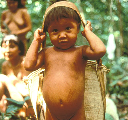Niño yanomami, Brasil