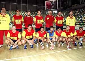 La selección masculina española, en el torneo de Ciudad Real.