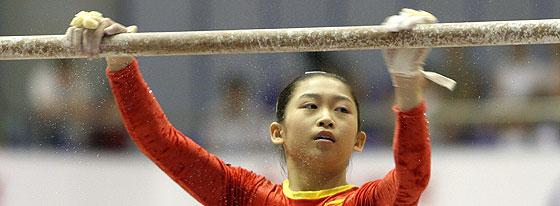 Jiang Yuyan, durante un entrenamiento. (Foto: AP)