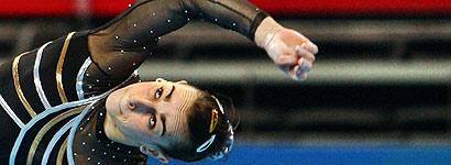 Laura Campos realiza un ejercicio en su debut (Foto: EFE)