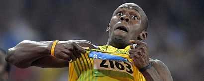Usain Bolt celebra una victoria más. (Foto: AFP)