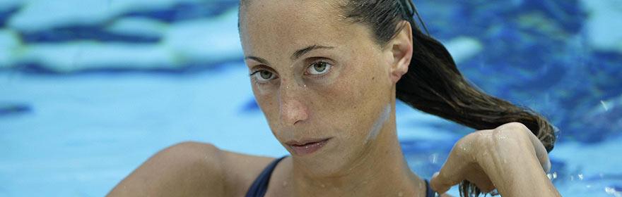 Gemma Mengual, en la piscina. (Foto: REUTERS)