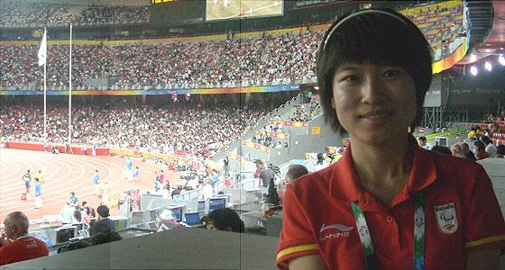 Liang Yuan, intérprete del equipo español en los Juegos. (Foto: M. A.)
