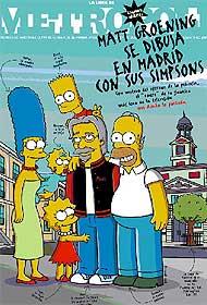La portada de Metrópoli dibujada por el propio Matt Groening.