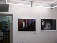 Imagen de la muestra, en el estudio de un pintora que les ha cedido el espacio.