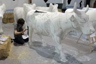 La vaca de Pablo Santacana, titulada 'Paz'. (Foto: J.M. Casero).