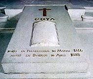 Lápida de Goya