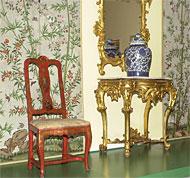 Salón de influencias orientales del XVIII