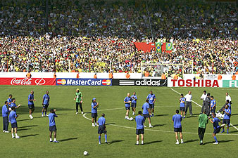 La 'seleçao' entrena con 25.000 seguidores. (Foto: EFE)