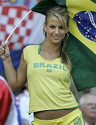 Una aficionada brasileña. (Foto: AP)