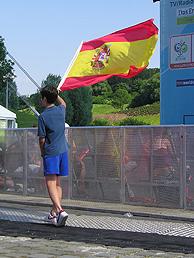 Un seguidor de la selección en Alemania. (Foto: Carolina P.B.)