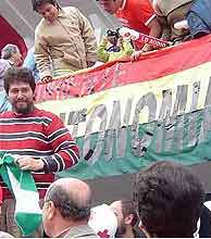 La bandera boliviana en el Estadio Nacional de Lima. (Foto: J. L. Arteaga)