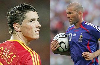 Fernando Torres y Zinedine Zidane. (Foto: AGENCIAS)