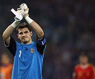 Casillas, desolado tras la derrota. (Foto: AFP)