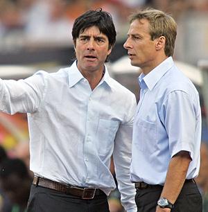 Joachim Loew y Jürgen Klinsmann, en un encuentro del Mundial Alemania 2006. (Foto: AFP)