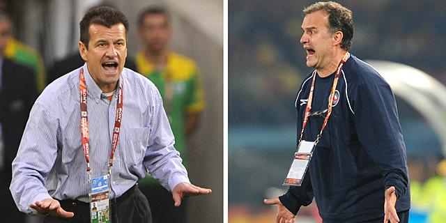 Carlos Dunga y Marcelo Bielsa. | Afp