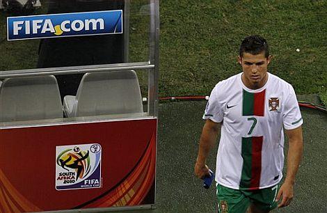 Cristiano Ronaldo, tras la derrota de Portugal en octavos de final. | Ap