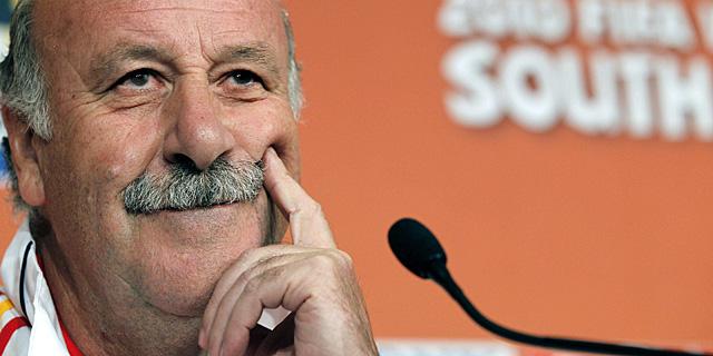 Vicente del Bosque, durante la rueda de prensa. | Efe