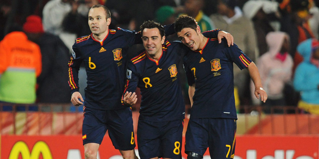 Iniesta, Xavi y Villa, los tres nominados de España. | Efe