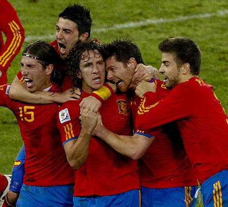 Celebración del gol de Puyol a Alemania. (Carlos García Pozo)