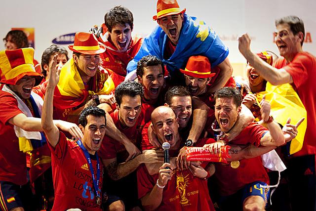 Pepe Reina durante la celebración. (Foto: EFE)
